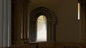 Towards the Cloisters - Hyde Abbey