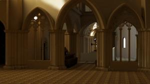 Towards the Choir Space - Hyde Abbey